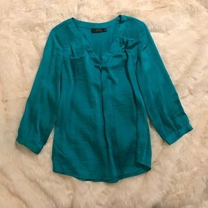 The Limited Teal Silky Blouse Small